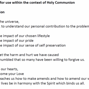 Prayers for use within the context of Holy Communion